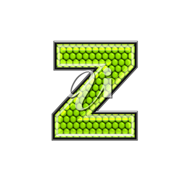 Abstract 3d letter with reptile skin texture - Z