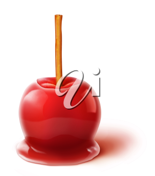Royalty Free Clipart Image of a Candy Apple