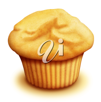 Royalty Free Clipart Image of a Muffin