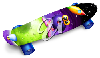 Royalty Free Clipart Image of a Skateboard