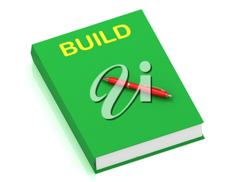 Royalty Free Clipart Image of the Word Build on a Book