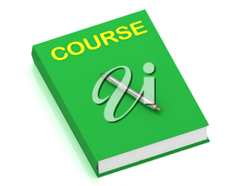 Royalty Free Clipart Image of a Book With the Word Course