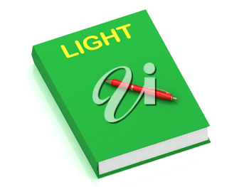 Royalty Free Clipart Image of a Book With the Word Light