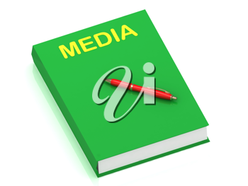 Royalty Free Clipart Image of a Book With the Word Media