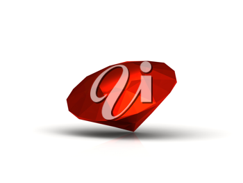 Royalty Free Clipart Image of a Ruby