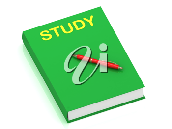 Royalty Free Clipart Image of a Book With the Word Study