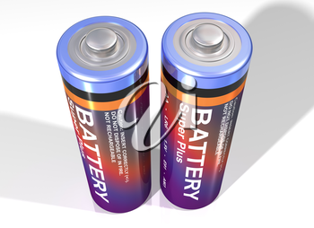 Royalty Free Clipart Image of Batteries