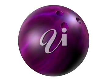 Royalty Free Clipart Image of a Bowling Ball