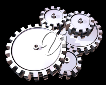 Royalty Free Clipart Image of Cogs and Gears