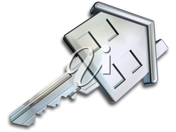 Royalty Free Clipart Image of a House Key