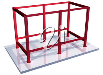 Royalty Free Clipart Image of a Steel Structure