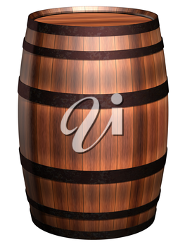 Royalty Free Clipart Image of a Wooden Barrel