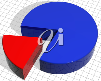 Royalty Free Clipart Image of a Pie Chart