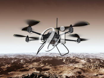 Royalty Free Clipart Image of a Spy Drone