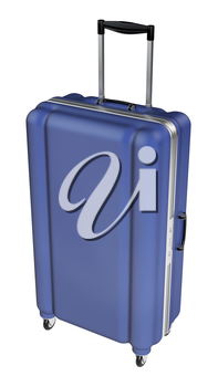 Large family polycarbonate luggage isolated on white background. 3D rendering.