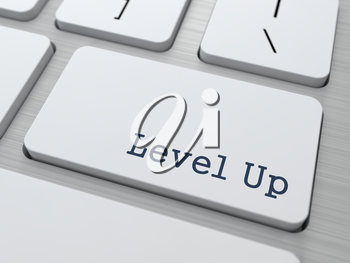 Level Up Concept. Button on Modern Computer Keyboard with Word Partners on It.