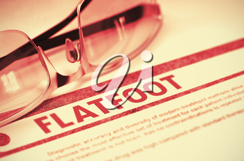 Flatfoot - Medical Concept with Blurred Text and Eyeglasses on Red Background. Selective Focus. Flatfoot - Medical Concept on Red Background with Blurred Text and Composition of Specs. 3D Rendering.