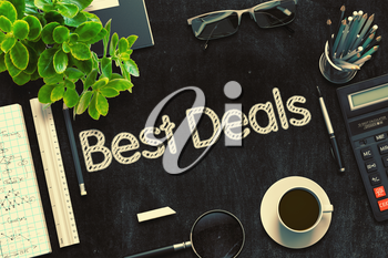 Best Deals on Black Chalkboard. 3d Rendering. Toned Image.