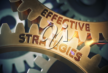 Effective Strategies - Concept. Effective Strategies - Industrial Illustration with Glow Effect and Lens Flare. 3D Rendering.