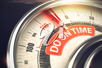Compass with Red Needle Pointing the Message Do On Time on the Red Label. Do On Time - Conceptual Rev Counter with Red Message on It. Horizontal image. 3D Illustration.