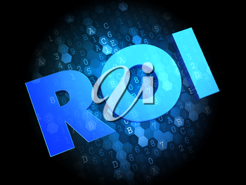ROI on Dark Blue Digital Background.