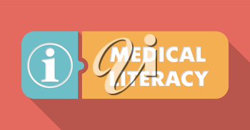 Medical Literacy Concept in Flat Design with Long Shadows.