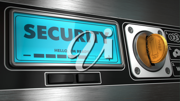 Security - Inscription on Display of Vending Machine. Business Concept.