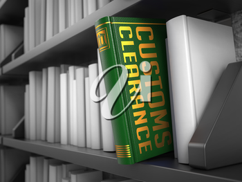Customs Clearance - Book on the Black Bookshelf between white ones.