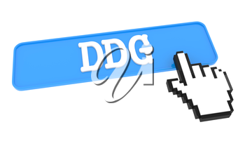 DDG Button with Hand Cursor. Business Concept.