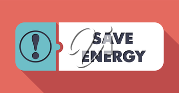 Save Energy Concept in Flat Design with Long Shadows.