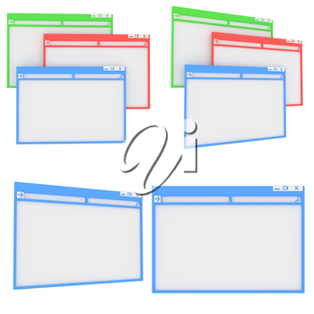 Royalty Free Clipart Image of Computer Screens