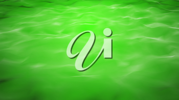 Green water background with calm waves. Computer generated 3d illustration.