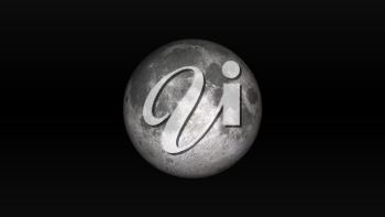 Full Moon on a black background. Digital illustration. Moon texture is public domain provided by NASA.