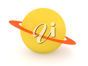 Planet Saturn abstract illustration. 3d rendering.