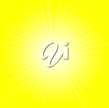 Starburst background, sunbeams going in all directions, yellow and white