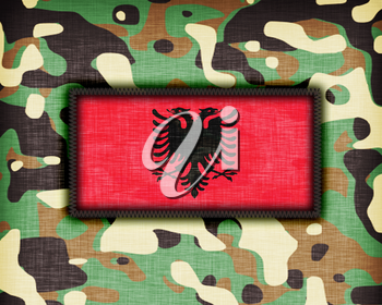 Amy camouflage uniform with flag on it, Albania