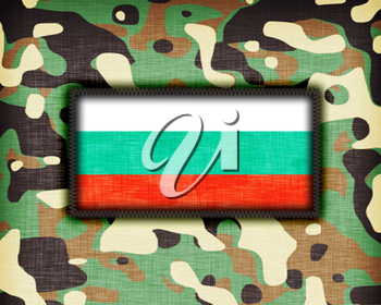Amy camouflage uniform with flag on it, Bulgaria