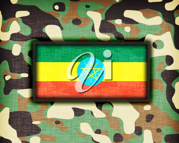 Amy camouflage uniform with flag on it, Ethiopia