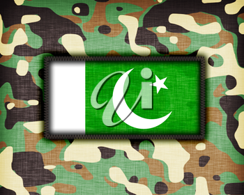 Amy camouflage uniform with flag on it, Pakistan