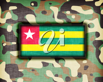 Amy camouflage uniform with flag on it, Togo