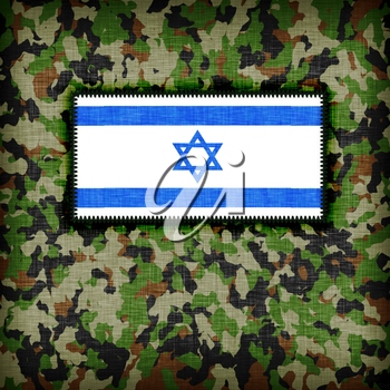 Amy camouflage uniform with flag on it, Israel