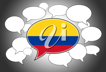 Speech bubbles concept - the flag of Colombia