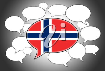 Speech bubbles concept - spoken language is Norwegian