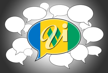Communication concept - Speech cloud, the voice of Saint Vincent and the Grenadines