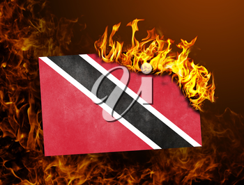 Flag burning - concept of war or crisis - Trinidad and Tobago