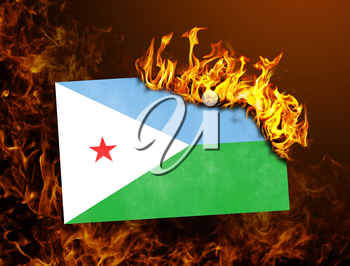 Flag burning - concept of war or crisis - Algeria