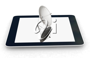 The concept of mobile high-speed Internet on a white background