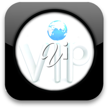 Glossy icon with text VIP