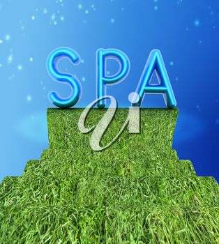 Background image of 3d text SPA on a white background
