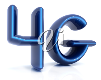 4g internet network. 3d text